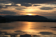 Sunset on loch Fleet (stuartcroy) Tags: scotland sunset loch fleet reflection beautiful hills