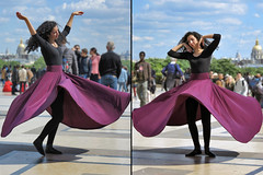 Whirling Dervishes (pivapao's citylife flavors) Tags: paris france trocadero girl streetartist