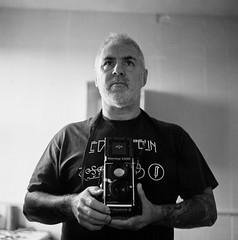 Hi (Howie Mudge LRPS BPE1*) Tags: me myself i selfie selfportrait mamiyac330s tlr twinlensreflex 120film 6x6 negative kodakportra trixconversion analog analogphotography film filmphotography filmisnotdead filmrevival filmcamera ishootfilm believeinfilm mediumformat squareformat