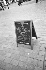 Stag Bar (bigalid) Tags: film 35mm ricoh rz728 ilford xp2 c41 bw april 2019 scotland sign dumfries