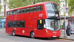 P1160398 VH45312 LF19 FWB at New Broadway Uxbridge Road Ealing Broadway London (LJ61 GXN (was LK60 HPJ)) Tags: ratp londonunited volvob5lhybrid wrightbusgemini3streetdeckstyle wrightbusgemini3 106m 10600mm vh45312 lf19fwb ar117
