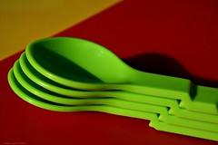 Spoon in Spoon (nagyistvan8) Tags: nagyistván túrkeve magyarország magyar hungary nagyistvan8 studio kanál spoon aspoonful tárgy object kanálakanálban spooninspoon színek colors piros zöld sárga red green yellow fekete black hmm macro macromondays árnyék shadow tupperware műanyag plastic 2019 nikon