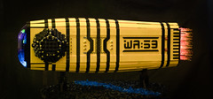 WA:59 - The Wasp (gonkius) Tags: lego moc wasp spaceship bent bee hornets uv led flame