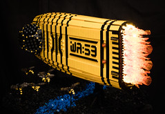 WA:59 - The Wasp (gonkius) Tags: lego moc spaceship uv led flame bee hornets fire