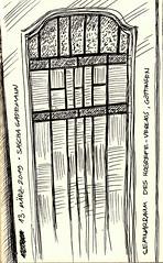 Seminarraum des Hogrefe-Verlags, Göttingen / Seminar Room of Hogrefe Publishing, Göttingen (Germany) (saschagademann) Tags: hogrefe göttingen tusche tuschezeichnung indianink indianinkdrawing door tür seminarraum seminarroom urbansketch urbansketcher urbansketching urbansketchers goettingen