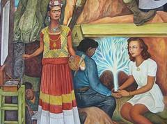 Diego Rivera, The Pan American Unity, Mural, 1940, detail. (Sabri KARADOĞAN) Tags: diegorivera paulettegoddard mural usa mexico muralism sf