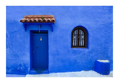 Chefchouen doorway with lucky hand (www.davidrosenphotography.com) Tags: chefchouen doorway blue travel morocco colour color door