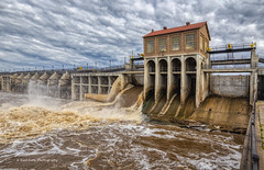 Muddy Water (Kool Cats Photography over 12 Million Views) Tags: dam lakeoverholser spillway water muddy oklahoma oklahomacity oklahomacitymetro river sky clo bluesky clouds rushingwater