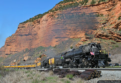 King of the Wasatch • Titan of the Rails (jamesbelmont) Tags: unionpacific goldenspike bigboy echocanyon 4014 up 844 railroad railway train locomotive