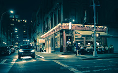Onieal's (onefivefour) Tags: nyc newyork night city car street restaurant oneials