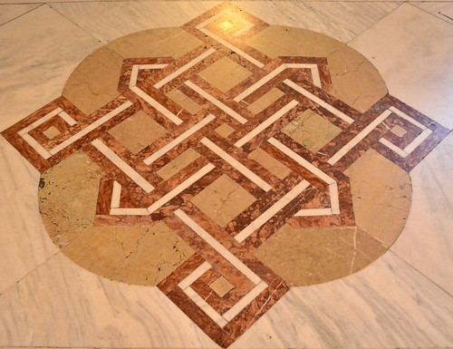 Bucharest-Palace of the Parliament-Floor Mosaics show the Layout of the Building
