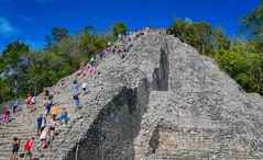 Nohoch Mul Pyramid - Cobá Maya Ruins - Coba Mexico (mbell1975) Tags: tulum quintanaroo mexico cobá maya ruins coba nohoch mul pyramid yucatán peninsula yucatan mayan archeological park parc pyramide ancient mesoamerican steps step ruin
