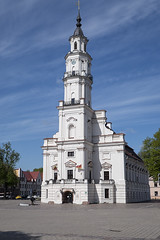 Kaunas Town Hall (ORIONSM) Tags: kaunas townhall architecture building oldtown tower blue azure sky landmark panasonic lumix tz100