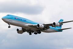 HL7643 (Andras Regos) Tags: aviation aircraft plane fly airport lhr egll heathrow approach korean koreanair boeing jumbo 747 748 748i