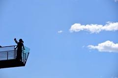 Blue Sky (lucamarasca1) Tags: background silhouette clouds sky bluesky blue explore