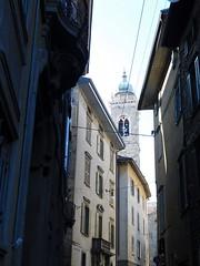 Side street and tower - Bergamo (litlesam1) Tags: italy2019 duepazziragazziamilano2019 march2019 bergamo
