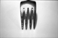 img668 (Jurgen Estanislao) Tags: fine art still life fork black white monochrome vintage film photography jurgen estanislao voigtlaender bessaflex carl zeiss jena flektogon 35mm f24 kodak 400tx hc110 g