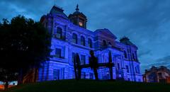 Light Ohio Blue (brutus61534) Tags: light ohio blue harrison county courthouse cadiz night bluehour nikon city police week small town