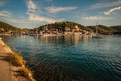 Little harbour.... (Dafydd Penguin) Tags: little harbour harbor port dock quay island town yacht sailboat sail boat sailing cruise cruising yachting meganisi greece ionian anchorage leica m10 21mm super elmar f34