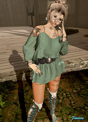 oyy (F oㄨㄨㄨ) Tags: secondlife sl avatar fashion virtual world swallow sintiklia su suicidalunborn glutz loulou eyno steinwerk cerberusxing cx endlesspain tattoo boots dress jewelry piercings