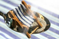 "a spoonful of vacation at the beach (photos4dreams) Tags: ""macro mondays"" ""a spoonful"" macro macrolens makro photos4dreams photos4dreamz p4d holiday vacation hmm löffel urlaub sand strand beach"