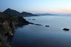 Coast of Tango peninsula (Teruhide Tomori) Tags: japan japon tango kyotango sea landscape kyoto taiza twilight seashore shore coast 海岸 空 sky 風景 日本 丹後半島 京丹後 丹後 海 日本海 京都 日没 beach 間人