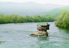 Drina River House (Marija Mimica) Tags: river colors nature forest green water wood house friends