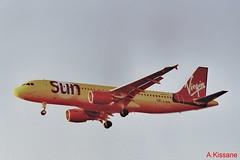 VIRGIN SUN A320 G-VKID (Adrian.Kissane) Tags: airliner heathrow 1130 plane flying jet sky airbus aircraft aeroplane london 1999 gvkid a320 lhr virginsun