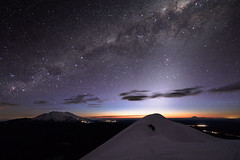 Zodiacal Light (blue polaris) Tags: new zealand tongariro national park mount mt ruapehu ngauruhoe mountain volcano landscape night milky way starry sky zodiacal light astrophotography astronomy