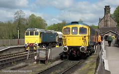 33102 and 25322 at Cheddleton (jon33040) Tags: d7672 25322 class33 churnetvalleyrailway cheddleton 33102 class25 aruba