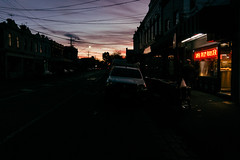 Red Light (OzGFK) Tags: canon canons100 may2019 s100 dusk orangesky sunset urban supertastyrooster takeawayfood roastchicken fastfood night evening