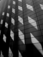 Holey Wall (lesliegill) Tags: 2019 architecture blackandwhite iphonexs japan may minimalism shadows shotoniphone tokyo