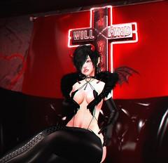 Sin Will Find You (.˚- ̗̀ʚ daĸoтa ɞ ̖́-˚.) Tags: spookshow glutz mug demon domme bdsm dom dura aii succubus black red