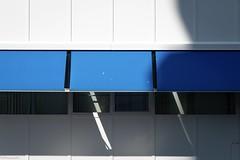 white & blue (fhenkemeyer) Tags: minimalistic abstract rotterdam facade windows shadows awning white blue