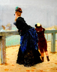 """""""Au Bois de Boulogne"""" (1873; detail) by Giuseppe De Nittis (Barletta 1846-Saint Germain en Laye 1884) - Private collection, now at Exhibition """"From De Nittis to Gemito. Napolitain Painters in Paris during the Impressionism"""" at Zevallos Museum in Naples, u (Sabri KARADOĞAN) Tags: boisdeboulogne giuseppedenittis paris france impressionism zevallosmuseum naples"""