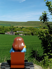 42/100 x - Li'l Hannah (amy's antics) Tags: lilhannah wiltshire downs countryside hills fields green yellow trees hedges 100xthe2019edition 100x2019 image42100
