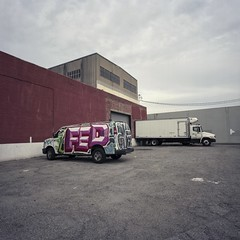 Fed, no Ex (ADMurr) Tags: la eastside fed no ex trucks van dba304 hasselblad 500cm 50mm distagon mf 6x6 fuji pro 400