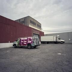 Fed, no Ex (ADMurr) Tags: la eastside fed no ex trucks van dba304 hasselblad 500cm 50mm distagon mf 6x6 fuji pro 400