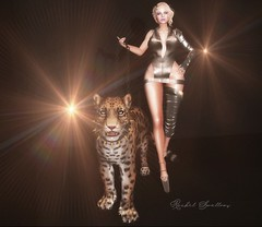 DO THINGS DIFFERENTLY (flickr) (Rachel Swallows) Tags: rapture corebyrachelswallows fashion leather latex jaguar panther cat animal pose model photography wild jungle