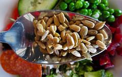 Salad Seeds (arbyreed) Tags: arbyreed macromondays aspoonfull seeds sunflowerseeds salad close closeup colorful yummy food dof