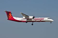 VT-SQF DHC-8 SPICEJET (Paul Rowbotham) Tags: vtsqf spicejet bournemouthairport dash8 dhc8