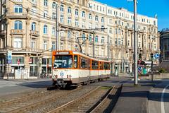Das Düwag-Gesicht von Mainhattan (trainspotter64) Tags: strasenbahn streetcar tram tramway tranvia tramvaj tramwaje hessen frankfurt vgf düwag ptwagen