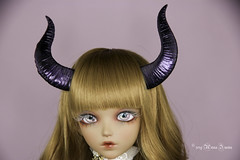 Maleficent horns MSD (AnnaZu) Tags: maleficent horns annazu annaku vesnushkahandmade commission poymer clay sculpting magnetic doll bjd abjd balljointed fairyland minifee fairyline alicia