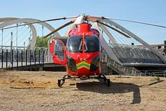 London's Air Ambulance in Wembley (kertappa) Tags: img1089 air ambulance londons london hems doctor paramedics hospital glndn emergency helicopter kertappa wembley