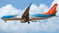 Sunwing | C-FPZB | Boeing 737-8K5(SSWL) | BGI (Terris Scott Photography) Tags: aircraft airplane jet aviation plane spotting nikon d750 travel barbados jetliner sunwing airlines boeing 737 tamron 70200mm f28 di vc usd g2 charter