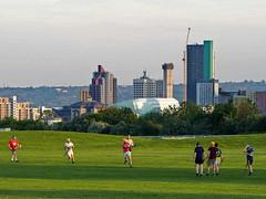 Hurling Practice Leeds Skyline (oneofmanybills) Tags: leeds hurling scott hall sports skyline city