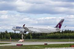A7-ALZ (5) (Christoffer Andersen) Tags: qatar qatarairways airbus a350 a350900 oneworld oneworldlivery osl osloairportgardermoen gardermoen passengerplane airplane aircraft planespotting
