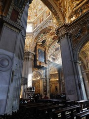 Sunlight in the Cathedral - Bergamo 5 (litlesam1) Tags: churches italy2019 duepazziragazziamilano2019 march2019 bergamo