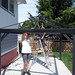 gazebo building & Mother's Day weekend..