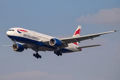 British Airways - Boeing 777-236ER G-YMMN @ London Heathrow (Shaun Grist) Tags: ba britishairways speedbird boeing 777 777236er gymmn shaungrist lhr egll london londonheathrow heathrow airport aircraft aviation aeroplanes airline avgeek landing 27l